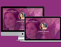 Website e Blog - Maquiadora Carol Muniz