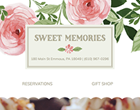 Sweet Memories Small Business Website Design