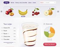 Diseño de aplicación Facebook «Create your dessert»