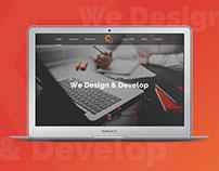 One Page Website Design || Landing Page Design