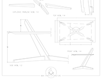 Cantilever Table Drawing