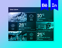Weather Dashboard // Global Outlook UI/UX
