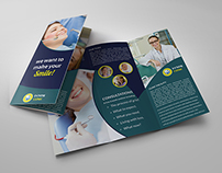 Dental Clinic Tri-Fold Brochure Vol.3