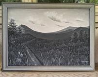 'Unknown landscape', framed.