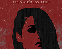 Grungy BANKS tour poster