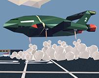 Thunderbird 2 - Low Poly