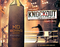 Boxing School - Fight, MMA Gym Flyer Template