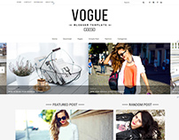 Free Fashion Blog Responsive Blogger Template- Vogue