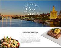 Landing Page Design Casa Carmen Sevilla Restaurant