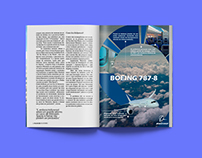 Boeing 787-8 - Anúncio publicitário para revista