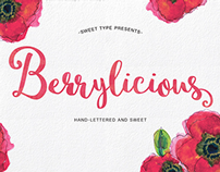 Berrylicious Hand lettered Script