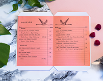 mulberry bar: logo & menu design