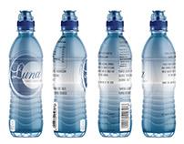 Bottle Label Design for Luna Water