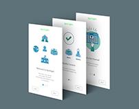 Onboarding tutorial UI design