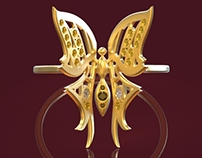 Butterfly Ring design and production