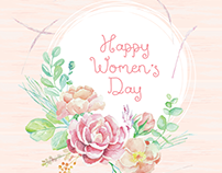 International Women's Day Watercolor Illustration