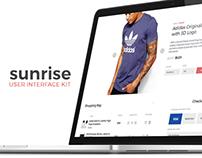 Sunrise UI Kit | E-Commerce, Media and Blogging