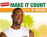 Make It Count with D-Wade microsite, viral game
