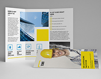 Construction Company A4 / Letter Trifold Brochure