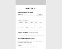 Wireframe de proposta para nova página, versão mobile