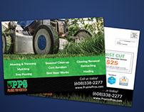 lawn care service EDDM postcard