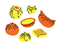 Food Illustrations: Dim Sum & Seafood