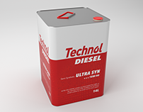 3D Product Modeling: TECHNOL oil tin