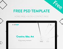 Arteasy FREE PSD ( Home page + Blog)
