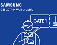 CES 2017 SAMSUNG IM Wall graphic / Exhibition, Graphic