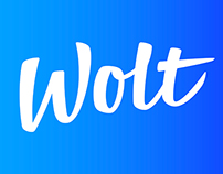 Wolt logo + process