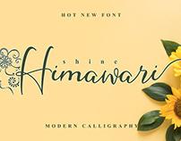 Free Shine Himawari Calligraphy Font