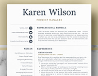 Professional Resume Template for Word & Pages - Karen