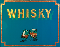 Glass Painting ''Whisky''