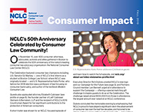 NCLC Consumer Impact newsletter redesign