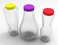 Botellas conceptuales para bebidas naturales