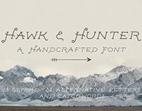 The Hawk & Hunter Font + Extras