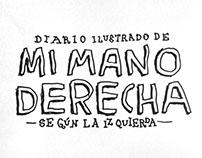 Diario ilustrado de mi mano derecha según la izquierda