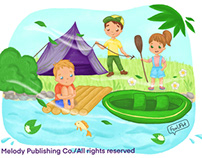 Phonics Book Illustration
