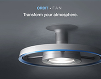 ORBIT Bladeless Ceiling Fan