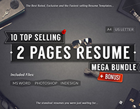 10 Top Selling 2 Pages Resume Mega Bundle + Bonus