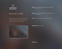 Blurry & Ornamental Webtemplate