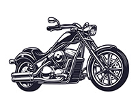Motorcycle vector templates Free