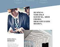 Webdesign für einen Bürokomplex in Hamburg