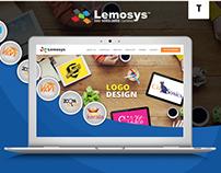 Website Mockup For Lemosys Infotech