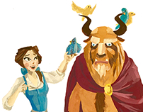 Disney Gouache Paintings