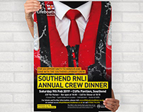 Annual dinner poster: Southend RNLI