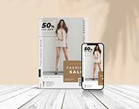 Summer fashion Sale Flyer