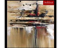 Acrylic on canvas abstract artwork