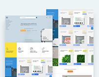 Website Concept for FenceScreen