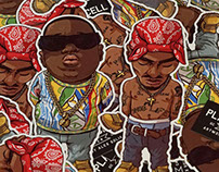 Pac and Big Vinyl Stikers